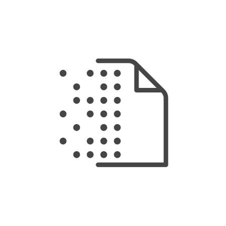 Icon of Replicated Distributed Database series. Dotted cryptography page. Information interchange concept label. Symbol for blockchain theme. Vector illustrated isolated