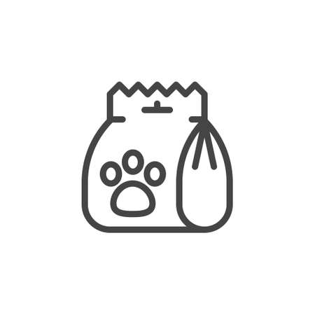 Icon of department for animals. Make an order, checkout, online shopping, e-commerce concept outline label.