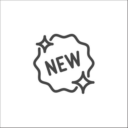 Tag New outline icon. New collection, season, product. Advertising sign, promo, e-commerce concept.