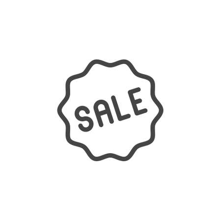 Tag Sale line icon. Label for services, online stores, markets and mobile applications, sticker for printed products. Advertising sign, promo offer, e-commerce concept. Vector illuctration isolated 矢量图像