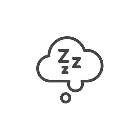 Sleepiness graphic icon. Drowsiness is a symptom of fatigue, depression, poor health, side effects of drugs, diseases. Vector illustration isolated for web and mobile apps in line design