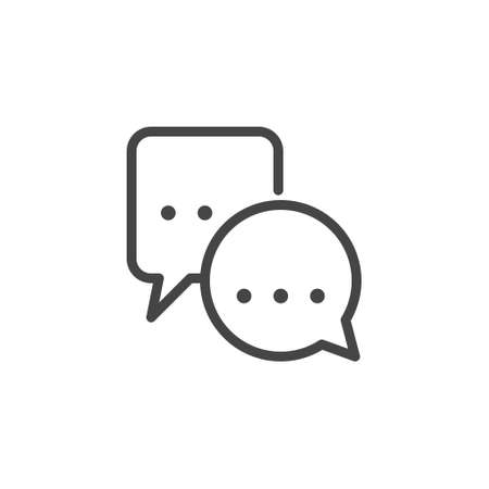 Bubble chat icon. Remote communication, distance work and education concept. Label for instant messengers, forums, sites, mobile applications. Co working Line Symbol. Vector isolated.