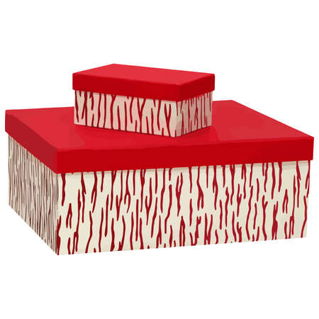 red gift box: Red gift box with ribbon and bow.