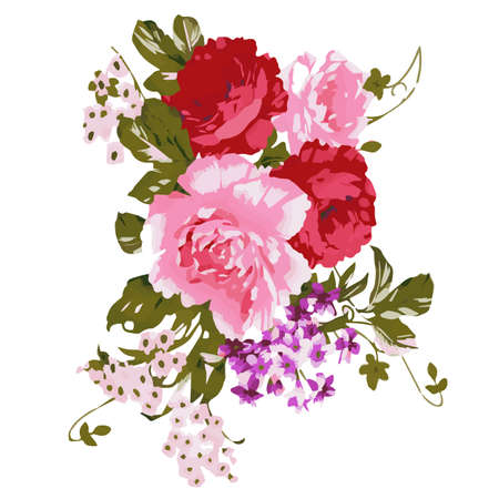 spring summer: Flowers watercolor illustration. Manual composition. Mothers Day, wedding, birthday, Easter, Valentines Day. Pastel colors Spring Summer