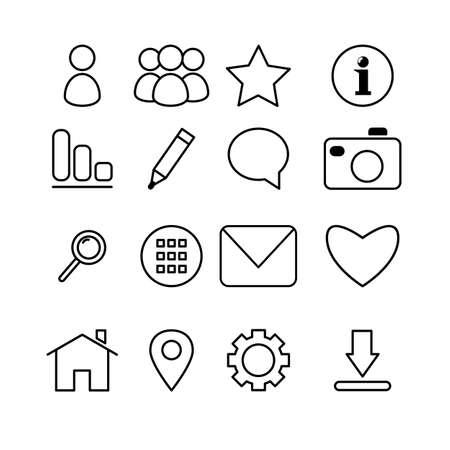communication icons: Media and communication icons Illustration