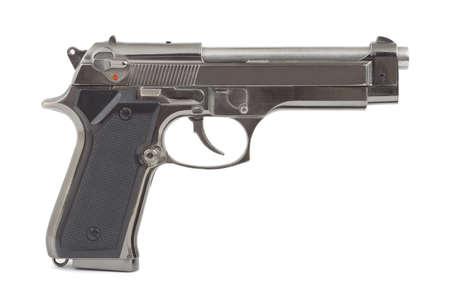 glock: Automatic handgun pistol isolated on a white background Stock Photo