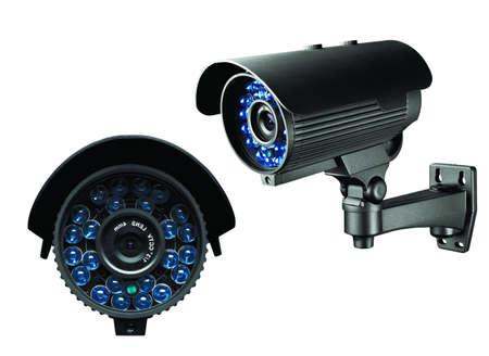 isolation: CCTV Camera of Surveillance isolate on white background.