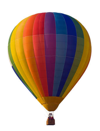 hot air balloon isolated on white background Stock Photo