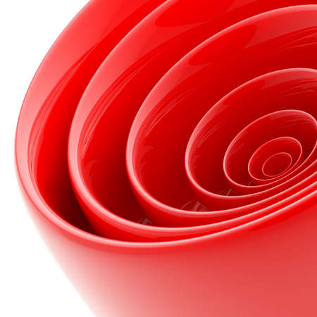3D abstract. Circles. Abstract background. Abstraction on a white background.