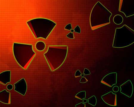 Atomic danger icon background Stock Photo