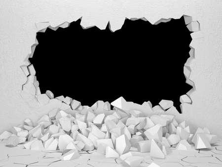 surface: Broken Walls Stock Photo