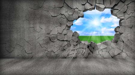 Broken Walls Stock Photo