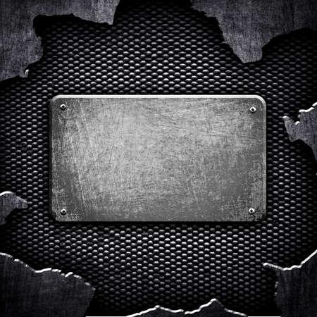 rupture: Crack Metal Background Stock Photo