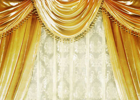 living room design: Curtains Stock Photo