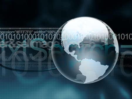 globe grid: Digital World
