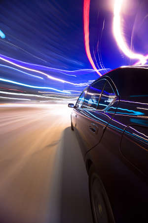 Fast Moving Car Stock Photo