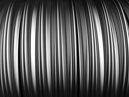 Silver Aluminium Wave Shape Stock Photo