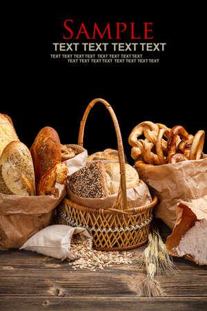 galletas integrales: Surtido de productos horneados Foto de archivo