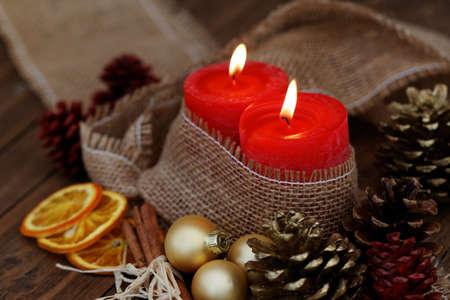Beautiful Christmas Decorations. New Year. Stock Photo