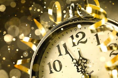 Nearly Twelve Oclock Midnight,New Year Concept.