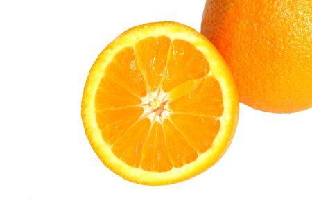 Sliced Navel orange.