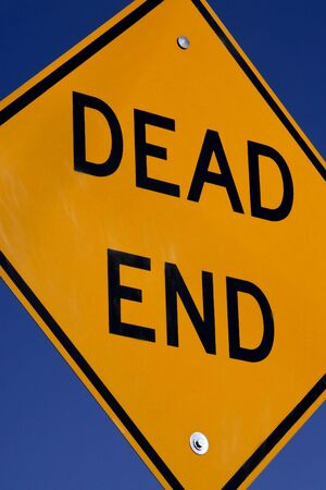 warned: Dead End sign