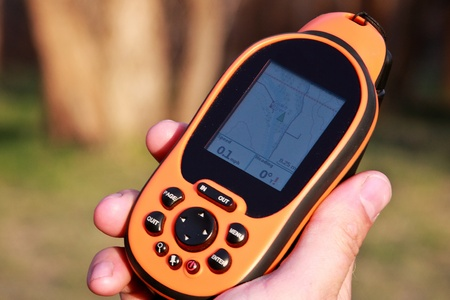handheld device: Navigating with a GPS Device
