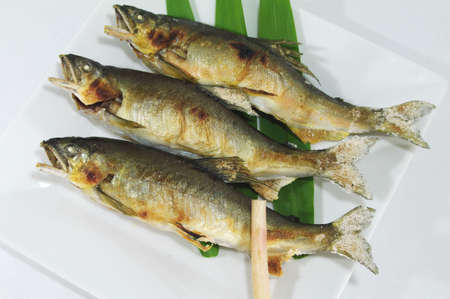 ayu: ayu roast fish Stock Photo