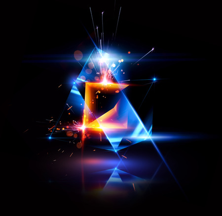 3d abstract background with geometric. Concept new technology and dynamic motion. Digital data visualization. 