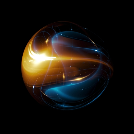 Abstracte ring achtergrond. Gloeiende spiraal. De energiestroomtunnel. schijnen rond kader met licht cirkels lichteffect. gloeiende hoes. Ruimte voor bericht. Lichte bol. Atoomkracht.