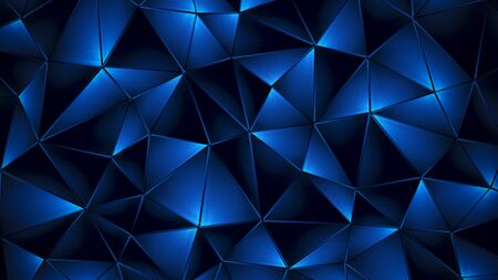 Colored abstract geometric background. 3D illustration.