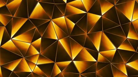 diamond texture: Colored abstract geometric background. 3D illustration. Polygonal glossy surface. Glowing structure.
