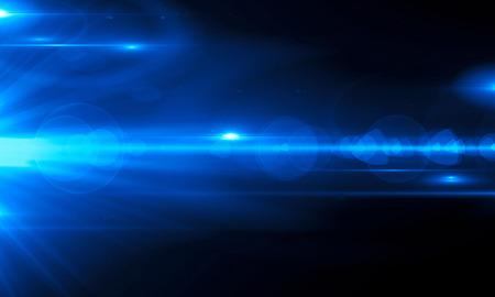 Mooie lichte gloed. Gloeiende strepen op donkere achtergrond. Lichtgevende abstracte mousserende gevoerde achtergrond. lichteffectbehang. Scifi-technologie.