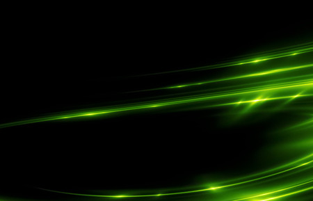 lighted: Beautiful light flares. Glowing streaks on dark background. Luminous abstract sparkling lined background.  light effect wallpaper. Sci fi technology. Stock Photo