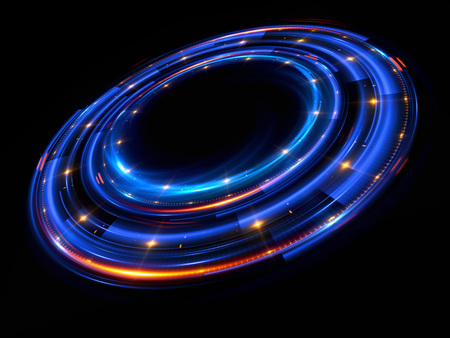 ellipse: Abstract background. luminous swirl. Elegant glowing circle. Bright spiral. Glow ribbon. Empty space.  Sparkling particle. Space tunnel. Glossy orbit. Colorful ellipse. Glint galaxy. Oval stage Foto de archivo