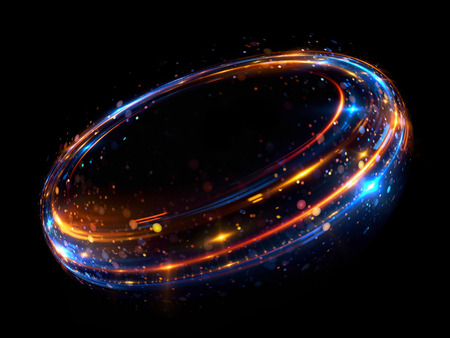 Abstract background. luminous swirl. Elegant glowing circle. Bright spiral. Glow ribbon. Empty space.  Sparkling particle. Space tunnel. Glossy orbit. Colorful ellipse. Glint galaxy. Oval stage 版權商用圖片