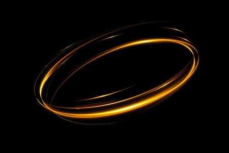 Effet de lueur Ruban brillant. Lignes de bordure rotationnelles abstraites. Énergie de puissance. Ruban anti-éblouissement LED. Lumineux néons brillants cadre abstrait cosmique. Tour de magie design tourbillon. Effet de tourbillon. Banque d'images - 81435519