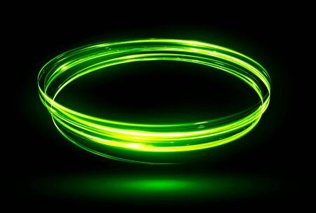 rotational: Glow effect. Ribbon glint. Abstract rotational border lines. Power energy. LED glare tape. Luminous shining neon lights cosmic abstract frame. Magic design round whirl. Swirl trail effect.
