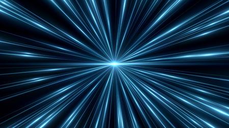 美しい光のフレア。熱烈な縞の暗い背景。背景が並ぶ明るい抽象的なスパーク リングします。光の効果の壁紙。エレガントなスタイル。Web の概念仮