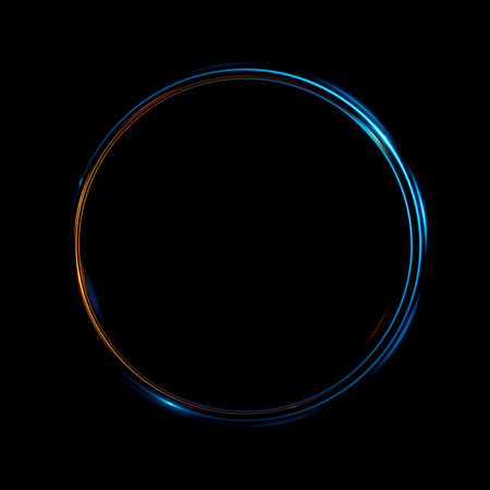 抽象的な背景。発光旋回。エレガントな光る円。 粒子の火付け役。スペース トンネル。光沢のあるクラゲ。カラフルな楕円。閃光球 写真素材