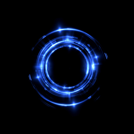추상적 인 배경입니다. 빛나는 소용돌이. 우아한 빛나는 서클입니다. 스파크 입자. 우주 터널. 광택 해파리입니다. 다채로운 타원입니다. 글린트 구