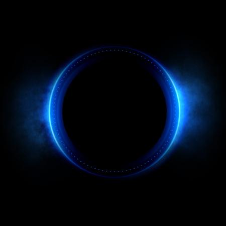 Abstracte achtergrond. licht zwenken. Elegante gloeiende cirkel. Vonkend deeltje. Ruimtetunnel. Glanzende kwallen. Kleurrijke ellips. Glint bol