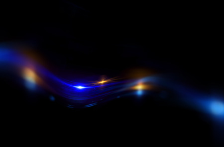 polaris: Art light flares. Bulb streaks. magic black space. Flash glow line. Ray LSD dream. Flow LED. Drunk effect. Leak cover. Astral beam. Night neon blur motion mystic. Fuzzy shape. Other sci world coma Stock Photo