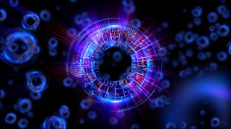 ellipse: Abstract neon background. Shine swirling. Glowing spiral cover.  Bubbles elegant. Halo around. Power sparks data particle. Space tunnel. Glossy jellyfish. LED color ellipse. Glint glitter beam tech Foto de archivo