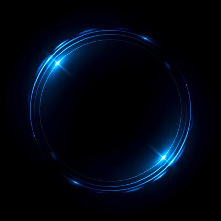 Resumo de fundo. redemoinho luminoso. Elegante círculo brilhante. Partícula esparramada. Túnel espacial. Medusa brilhante. Elipse colorida. Esfera Glint