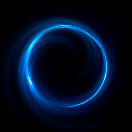Contexte abstrait. Tourbillons lumineux. Cercle lumineux élégant. Particules d'étincelles. Tunnel spatial. Des méduses brillantes. Ellipse colorée. Sphère Glint Banque d'images