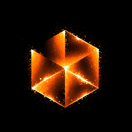ray of light: 3d abstract modern technology. Box scheme. Neural network. Glass blocks. Web construction. Industrial cube objects. Hardware quantum form. Smart build. Intersect composition. Grid core. Glow tech