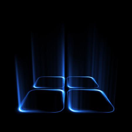 Iluminación de formas geométricas sobre fondo negro. Foto de archivo - 88571144