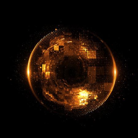 Abstract background. luminous swirling. Elegant glowing circle. Reklamní fotografie