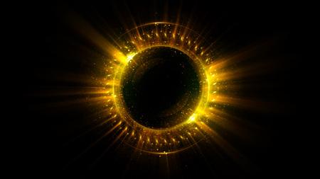 Abstracte achtergrond. licht zwenken. Elegante gloeiende cirkel. Big data cloud. Lichtring. Vonkend deeltje. Ruimtetunnel. Kleurrijke ellips. Glint bol. Heldere rand. Magische portal. Energiebal.